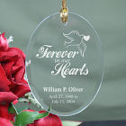 Engraved Forever In Our Hearts Memorial Ornament