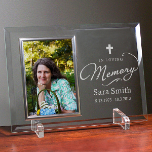 Engraved In Loving Memory Beveled Glass Frame 8572408X