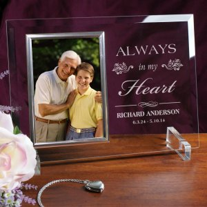 Memorial Beveled Glass Frame