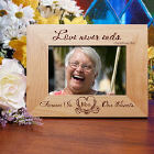 Love Never Ends Memorial Wood Picture Frame