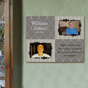 Personalized Memorial Photo Wall Canvas 917342X