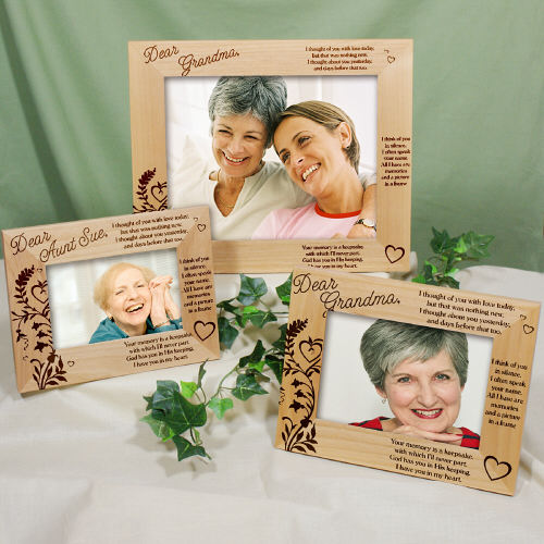 Engraved Your Memory Is A Keepsake Memorial Wood Picture Frame | Personalized Wood Picture Frames