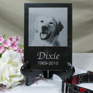 Engraved Memorial Photo Marble Keepsake