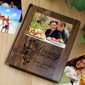 Engraved Memorial Photo Album