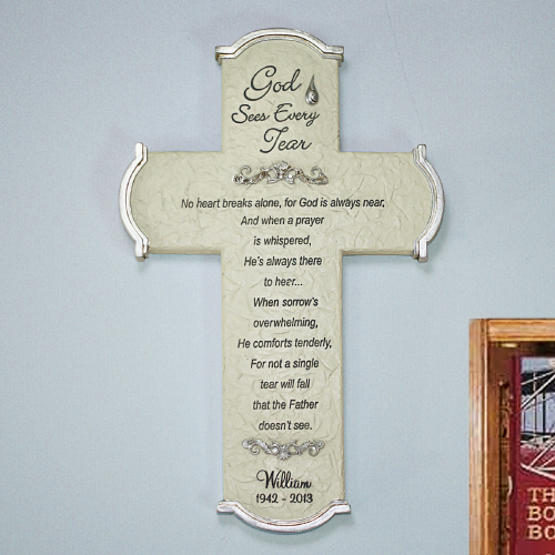Engraved Memorial Wall Cross L737468