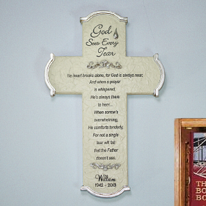 Engraved Memorial Wall Cross