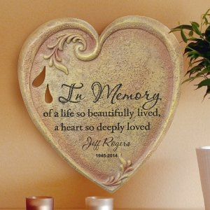 Engraved Memorial Heart Stone L7942100