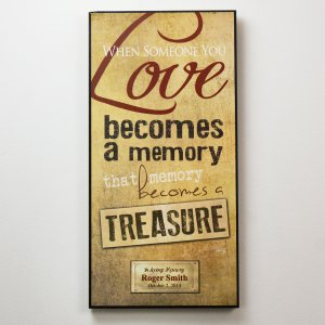 Personalized Memorial Wall Sign