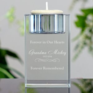 Engraved Memorial Candle Holder L8006105