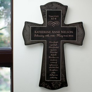 Personalized Religious Memorial Wall Cross