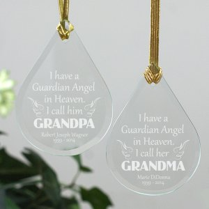 Angel In Heaven Memorial Glass Ornament