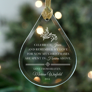 Love From Heaven Christmas Memorial Ornament