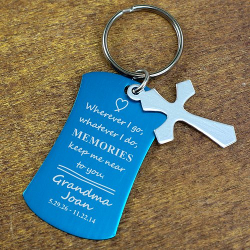 Engraved Memorial Charm Key Chain L80961X