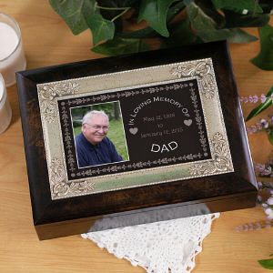 Personalized In Loving Memory Music Keepsake Box | Personalized Keepsake Box