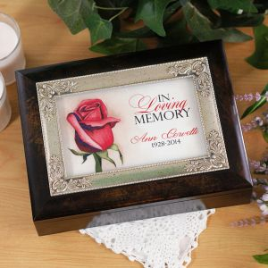 Personalized Remembrance Music Box