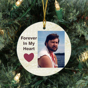 Memorial Photo Ceramic Holiday Ornament