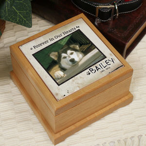 Personalized Forever In Our Hearts Memorial Urn