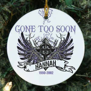 Personalized Gone Too Soon Ornament
