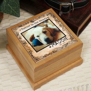 Personalized Memorial Wooden Urn U589853