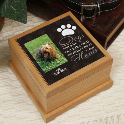 Personalized Pet Photo Wooden Memorial Urn | Pet Urns