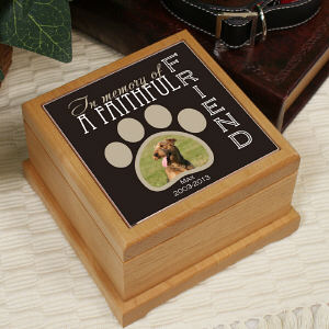 Personalized Faithful Friend Memorial Photo Urn