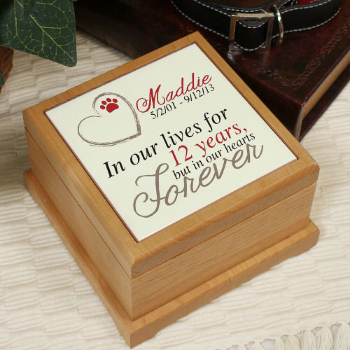 Personalized Memorial Wooden Pet Urn U711353