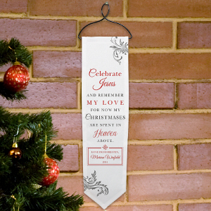 Personalized Memorial Wall Banner