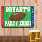 Personalized Football Party Zone Metal Wall Sign