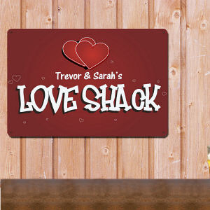 Personalized Love Shack Metal Wall Sign