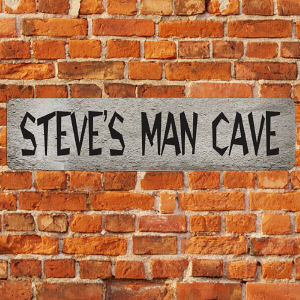 Man Cave Printed Wall Sign