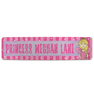 Personalized Princess Lane Metal Wall Sign