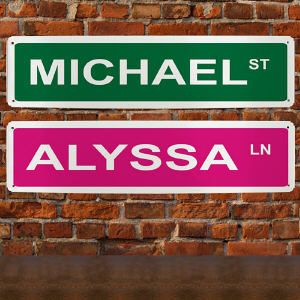 Personalized Street Sign Wall Sign 63167878