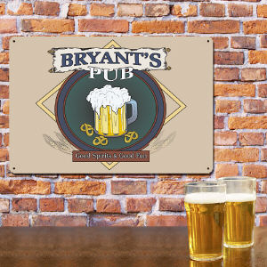 Personalized Pub Metal Wall Sign 63604