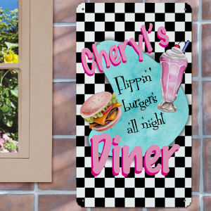Personalized Retro Diner Wall Sign