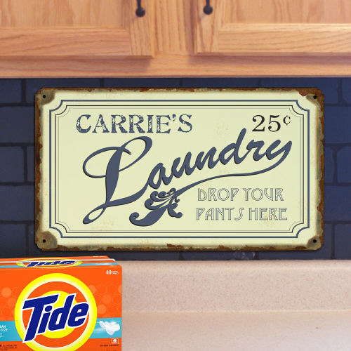 Personalized Drop Your Pants Here Laundry Wall Sign 643004