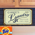 Personalized Drop Your Pants Here Laundry Wall Sign