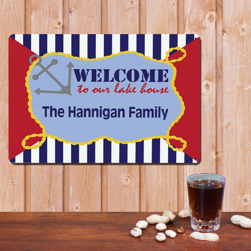 Personalized Family Lake House Wall Sign 644504
