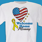American Heart Welcome Home Personalized Military T-shirt