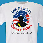 Land of the Free Personalized Military T-shirt