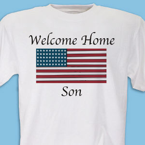 American Flag Personalized Military T-shirt