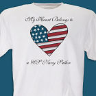 My American Heart Personalized Military T-shirt