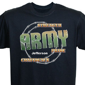 Personalized Army Pride T-Shirt