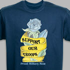 Personalized Support Our Troops T-Shirt