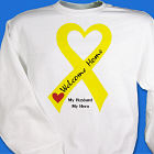 Yellow Ribbon Welcome Home Personalized Military Sweatshirt