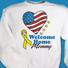 American Heart Welcome Home Personalized Military Sweatshirt