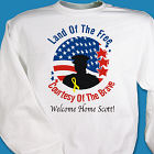Land of the Free Personalized Military Sweatshirt
