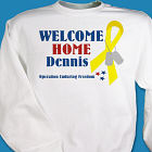 3 Star Yellow Ribbon Welcome Home Personalized Military Sweatshirt