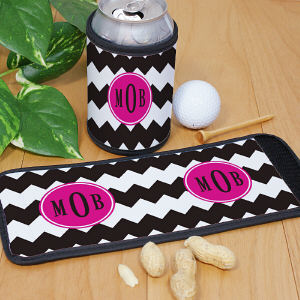 Monogram Madness Can Wrap Koozie
