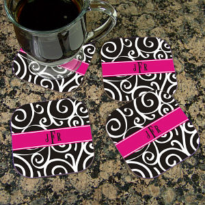 Monogram Madness Coaster Set