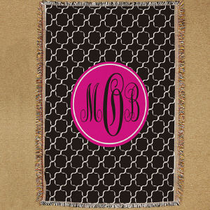 Monogram Madness Throw Blanket